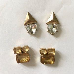 TWO PAIRS JCrew Costume Jewelery Post Earrings